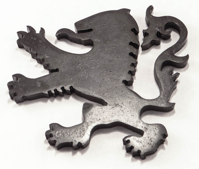 Custom Hand forged black iron lion paper weigh